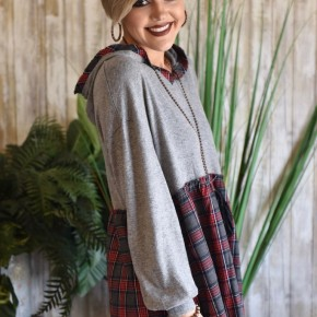 Plaid Babydoll Sweater