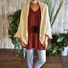 CLEARANCE Oatmeal Cocoon Cardigan
