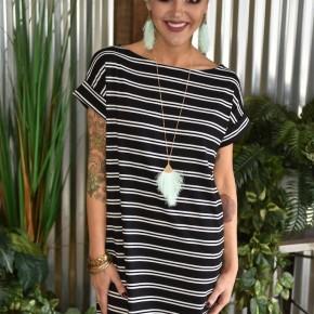 Dolman Striped Dress