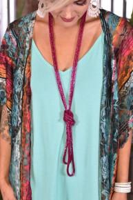 Magenta Loopty Loo Necklace