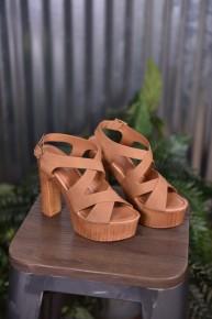 Tan Renee Wood Heels