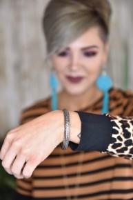 Silver Textured Bracelet