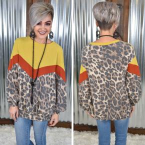 Cheetah Chevron Sweatershirt
