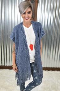 Chambray Knit Kimono