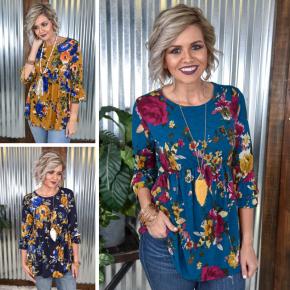 Floral Empire Tunic *Final Sale*