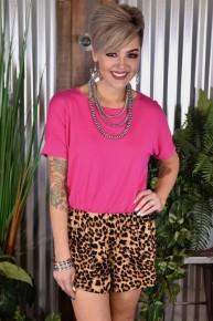 Hot Pink Leopard Romper