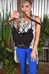 Black Crochet Lace Bralette