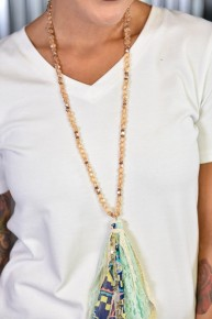Mint To Be Tassel Necklace