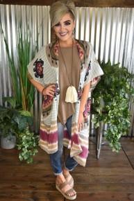 Mandala & Stripes Kimono