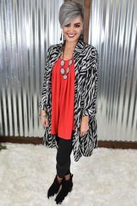 Zebra Button Down Ruffle Dress