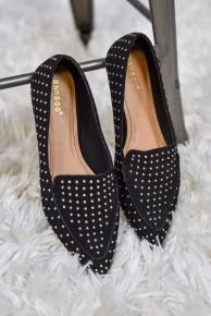 Black Studded Flat