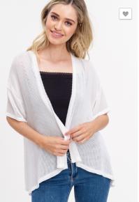 Off White S/S Knit Kimono