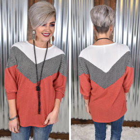Marsala Colorblock Sweater
