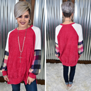 Forever Yours Plaid Sweater