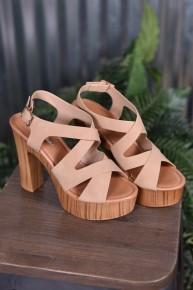 Taupe Renee Wood Heels
