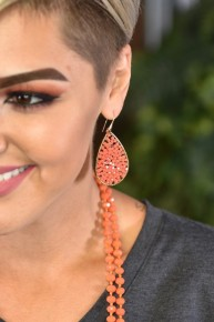 Coral Dream Weaver Drop Earrings
