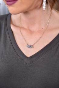 Dainty Druzy Stone Necklace