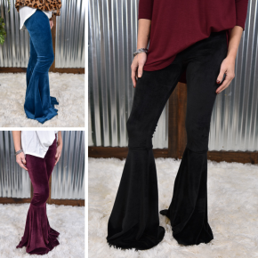 So Chic Velvet Flare Pants