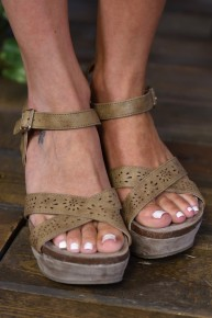 Taupe Laura 3 Wedges