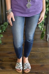 Judy Blue Dark Blue Relaxed Skinny Jeans
