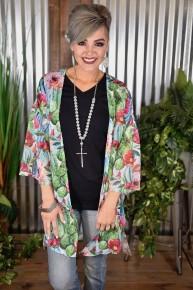 Stop & Stare Cactus Kimono