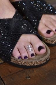 Swirl Sterling Silver Toe Ring
