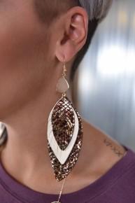 Brown & Cream Nothing Better Earrings