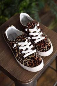 Leopard Velvet Sneakers