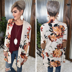 Floral Cardigan with Pockets