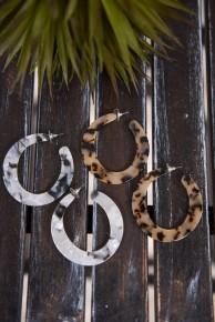 Large Round Hoop Earrings