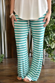 CLEARANCE Striped Drawstring Pants