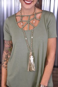 To the Point Tassel Necklace