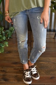 Judy Blue Bleach Splash Relaxed Jeans