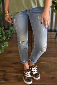 Judy Blue Bleach Splash Relaxed Jeans