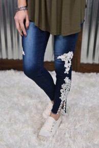 L & B Embroidered Skinny Jeans