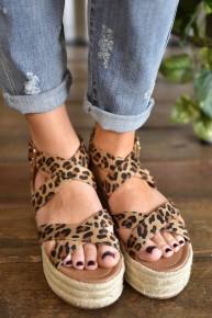 Leopard Fatima Sandals