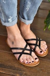Black Lupie Sandals