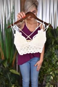 Off White Crochet Lace Bralette