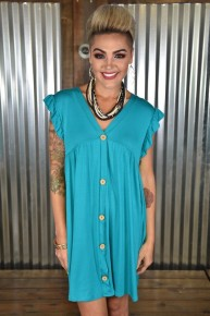 CLEARANCE Jade Faux Button Dress