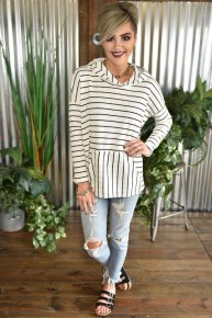 CLEARANCE Striped Spring Hoodie
