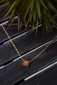 Leopard Cushion Cut Necklace
