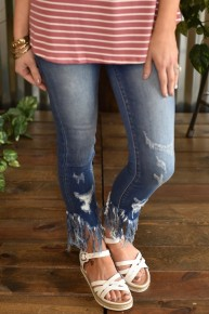 Kan Can Frayed Ankle Jeans