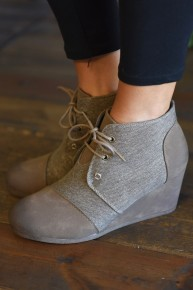 CLEARANCE Taupe Sabri Booties
