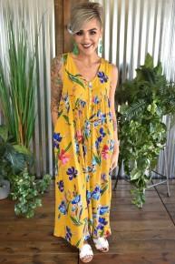 Mustard Floral Jumpsuit