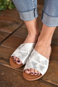 CLEARANCE Silver Sadie Sandals