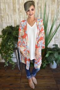 Coral Spring Kimono