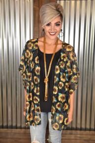 Waverly Sunflower Kimono