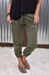 Olive Knit Joggers