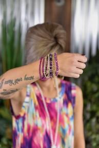 Purple Stackable Beaded Bracelets