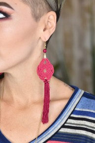 Magenta Cattywampus Earrings